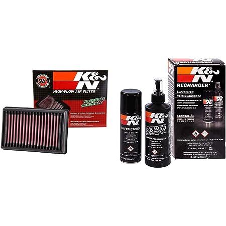 K&N BM-1113 Moto Filtre à Air de Remplacement & Voitures et moto nettoyant 355ML + Aérosol huile 204ML pour filtre à air 99-5003EU