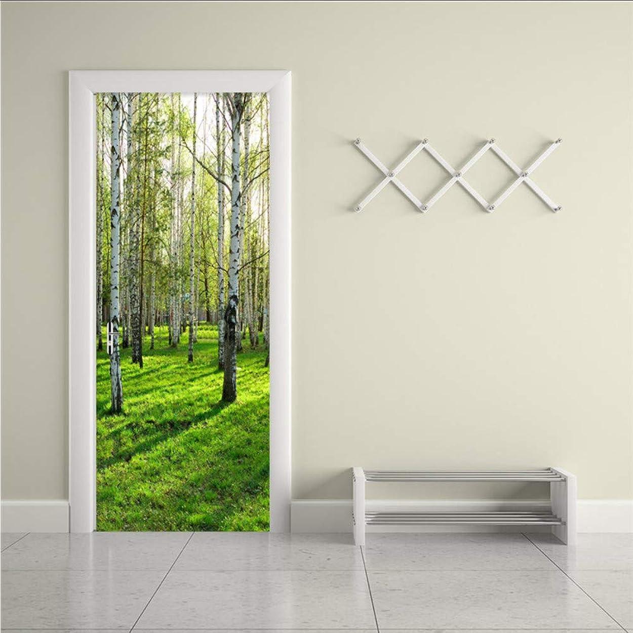 改善する報復するサミットMingld 写真の壁紙現代のシンプルな3Dステレオバーチの森の壁画壁のステッカーリビングルームの寝室の家の装飾Pvc防水壁紙-200X140Cm
