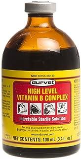 Durvet High Level Vitamin B Complex Injectable Farming Livestock Care 100ml