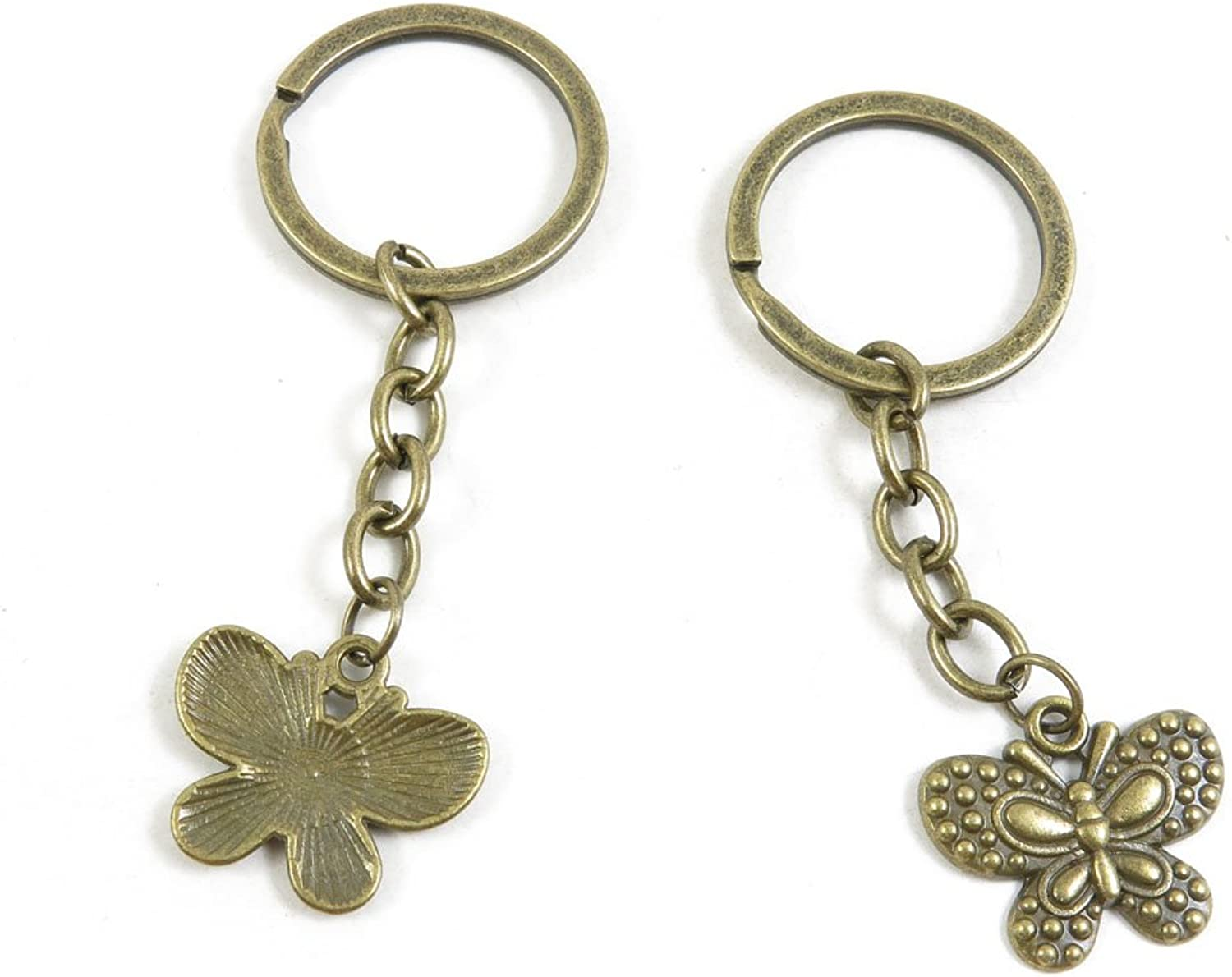 180 Pieces Fashion Jewelry Keyring Keychain Door Car Key Tag Ring Chain Supplier Supply Wholesale Bulk Lots Y7KK4 Butterfly