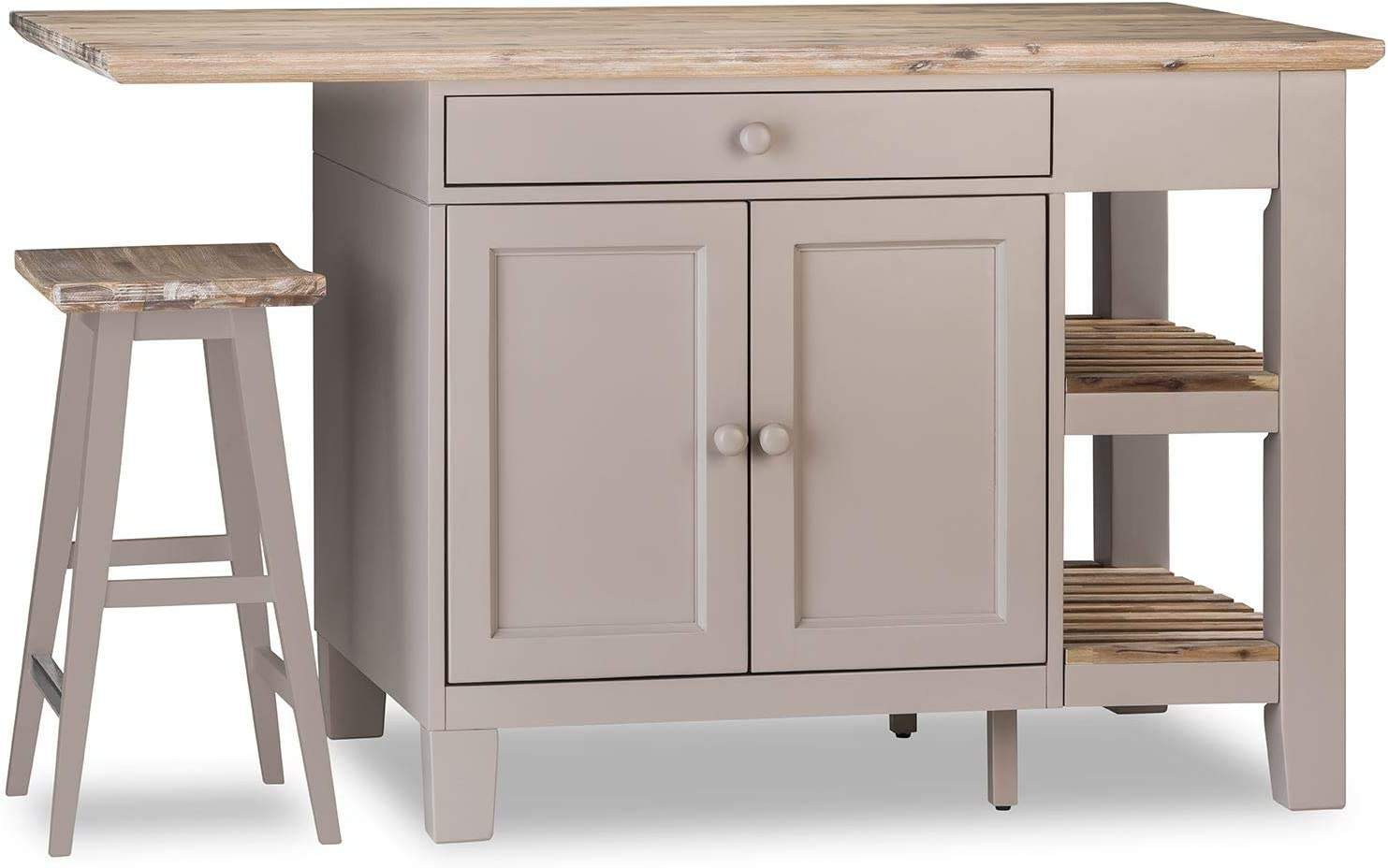 Florence Kitchen Island with Shelves, Cupboards, Drawers and ...