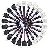 Liwinting 10 Piezas 5 Pin 16.5cm Cable LED Conecte 12mm de Ancho SMD 5050 RGBW Tira de LED/Luz de...