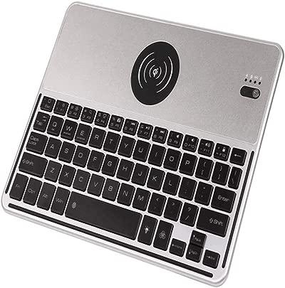 HKJCC Bluetooth kabellose Ladetastatur bunt hinterleuchtete Tastatur Universalsystem ios Windows Android Notebook-Tablettentastatur