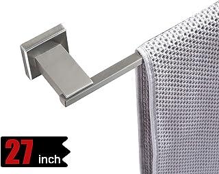 JQK Bath Towel Bar, 24 Inch Stainless Steel Towel Rack Bathroom, Towel Holder Brushed Finished Wall Mount, Total Length 27.16 Inch, TB200L24-BN