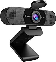 1080P Webcam with Microphone, eMeet C960 Web Camera, 2 Mics Streaming Webcam with Privacy Cover, 90°View Computer Camera, ...