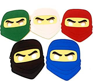 Kool KiDz 10 Ninja Masks for Birthdays, Halloween Costumes, Party Supplies, Games and More - Comfortable, One-Size-Fits-Most Design - Premium Quality Eco-Felt and Fleece