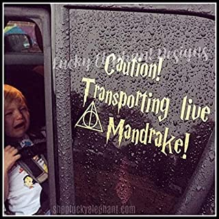 Transporting Live Mandrake Car Decal - Mandrake on Board Decal - Live Mandrake Baby on Board Decal