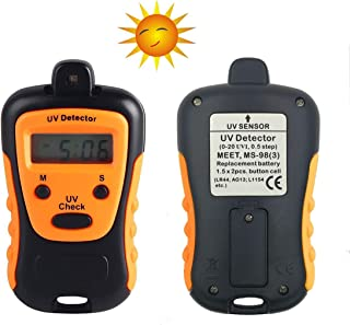 UV Detector Checker for Measuring The Intensity of Outdoor Ultraviolet Light with Digital Meter Tester Testing
