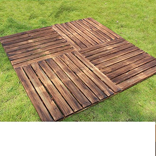 Diy Wood Parkette Korrosionsschutz,Retro,Outdoor Wood Parkette Balkon Parkett Bodenbelag
