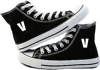 c4b3ac177a5f8 Bestomrogh Kpop BTS Bangtan Boys Couple Chaussures de Toile Garçon Fille  Chaussures Montantes Respirantes Chaussures Décontractées