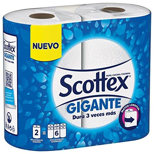 Scottex - Papel de cocina gigante, 2 rollos
