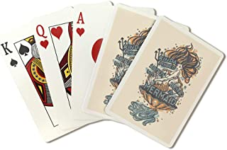 Not being a Mermaid - Tattoo Design (Playing Card Deck - 52 Card Poker Size with Jokers)