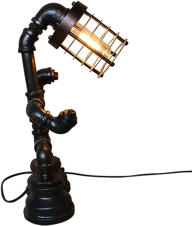 Ali@ Loft American Style Tischleuchte Retor Wasserpfeife Dest Lampe (Farbe   Schwarz-42cmX15cm)