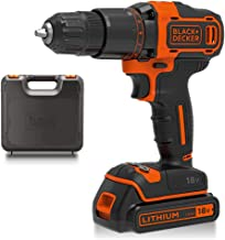 Sponsored Ad – BLACK+DECKER 18 V Cordless 2-Gear Combi Hammer Drill Power Tool with Kitbox, 1.5 Ah Lithium-Ion, BCD700S1K-GB