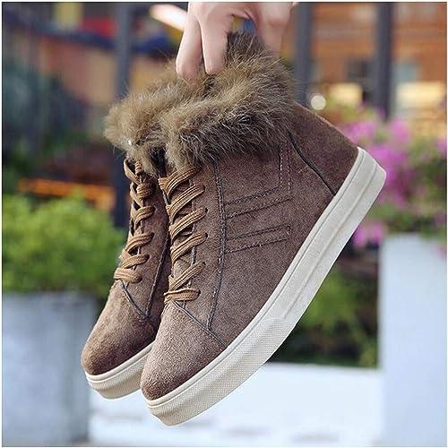 SIKESONG Plus Chaud d'hiver d'hiver Bottes De Velours Chaussures en Coton Occasionnels Chaussures Coton Sauvage Nouveau Fond Mou De Hautes Bottes  prix bas discount