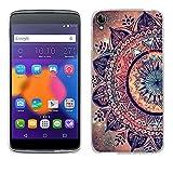 FUBAODA for für Alcatel One Touch Idol 3(5.5 inch) Hülle, [Mandala Blume] Kratzfeste Plating TPU für Alcatel One Touch Schutzhülle Crystal Durchsichtig für Alcatel One Touch Idol 3(5.5 inch)