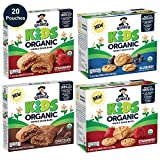 Quaker Kids Organic Multigrain Bars and Bites, Sampler Pack, 20 Pouches, USDA Certified Organic,...
