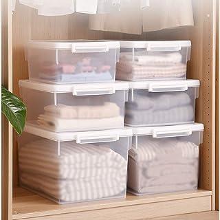 MU Bois Massif de boîte de Rangement portative de ménage, vêtements épais en Plastique de ménage Cosmétiques de Jouet Néce...