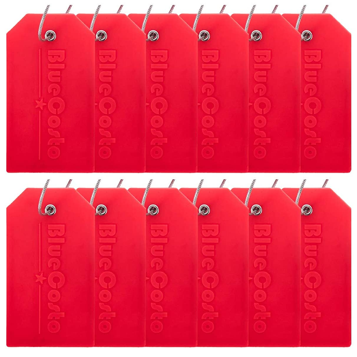 BlueCosto 6/12 Pack Luggage Tags Suitcase Tag Travel Bag Labels w/Privacy Cover