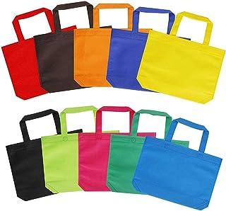 BBGSFDC Bolsas de Fiesta Bolsas de Regalo Reutilizables 10 Colores Bolsa de Asas de Regalo no Tejida con Asas para favores...