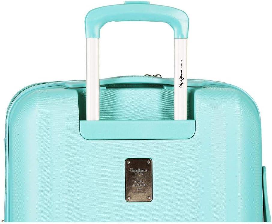Pepe Jeans Glasgow Trolley cabina Azzurro 40x55x20 cms Rigida ABS Chiusura TSA 37L 3,2Kgs 4 doppie ruote Espandibile Bagaglio a mano