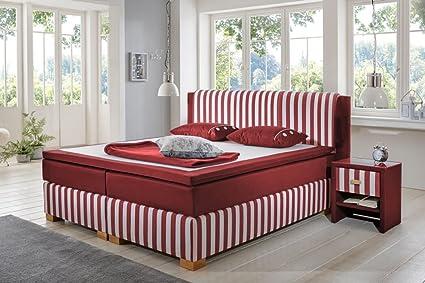 Schlichter Möbel Cama con somier Sylt (rojo, 200 x 200 cm ...