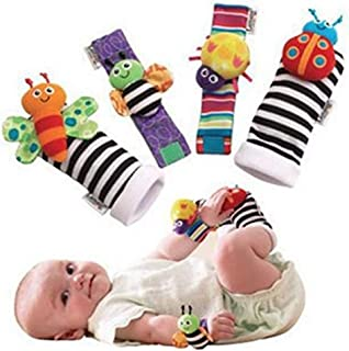 Blige SMTF Cute Animal Soft Baby Socks Toys Wrist Rattles...