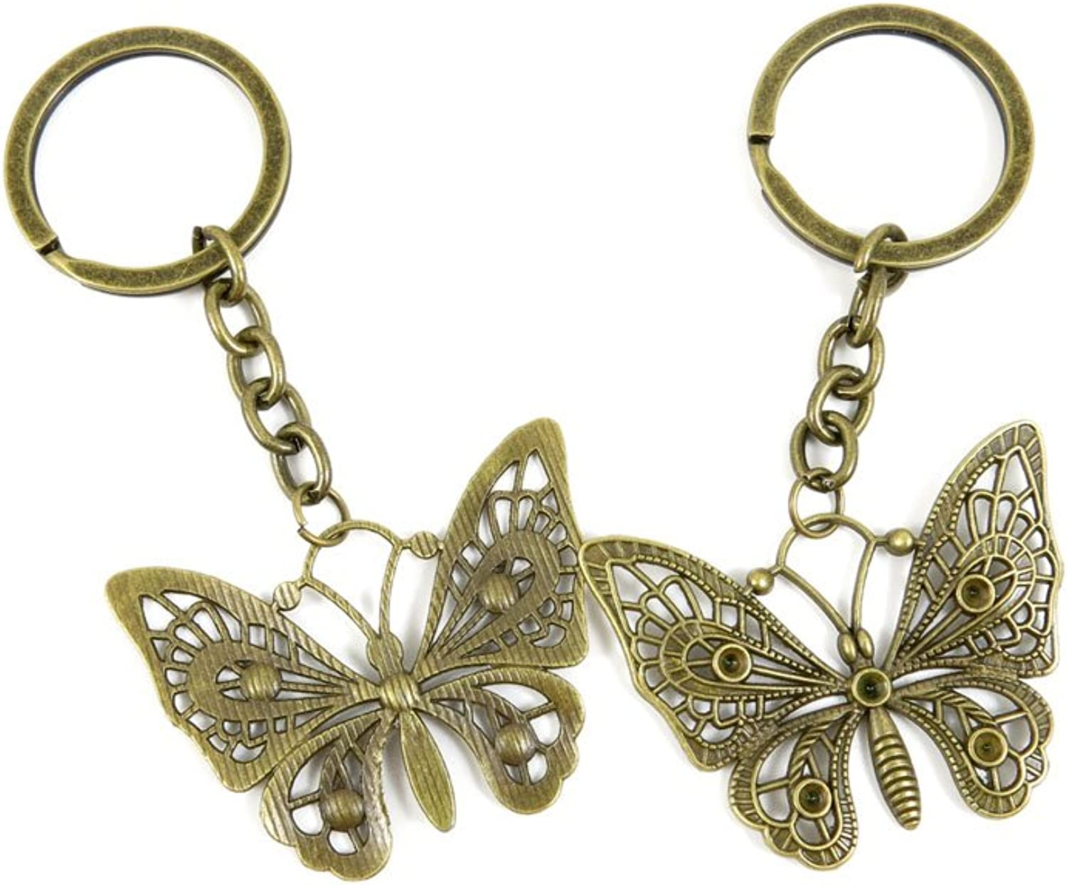 130 Pieces Fashion Jewelry Keyring Keychain Door Car Key Tag Ring Chain Supplier Supply Wholesale Bulk Lots B1SY4 Butterfly