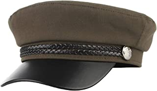 GEMVIE Women's Captain's Captain's Hat Classic Visor with Cord Cap