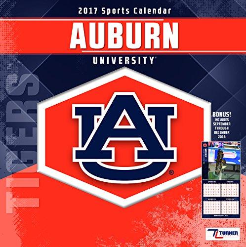 """Turner Licensing Sport 2017 Auburn Tigers Team Wall Calendar, 12""""X12"""" (17998011797)"""