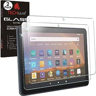 "TECHGEAR [2 Pack] Gehard glas Screen Protectors voor alle nieuwe Amazon Fire HD 8""/HD 8"" Plus Tablets (2020/10e generatie..."