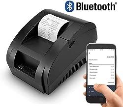 YJJ Impresora Térmica, 58 Mm Mini Portátil De La Etiqueta Bluetooth para Impresora Inalámbrico Pos Impresora Térmica para Android PC con Windows Soporte De Caja Registradora