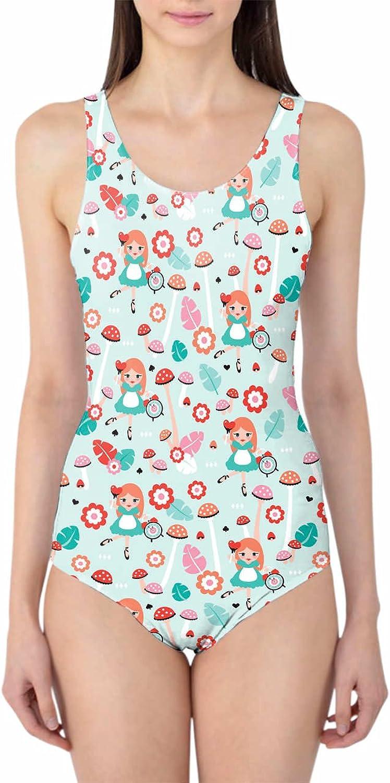 Queen of Cases Alice in Wonderland Woherren Swimsuit Badeanzug XS-3XL