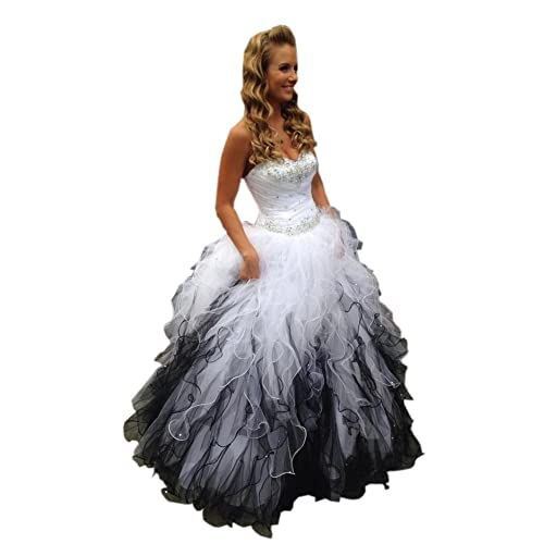 bd28cbbc283 Mollybridal Sweetheart Ruffles Ball Gown Wedding Dresses Tulle Crystals  Beaded Corset Back 2019