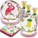 90-Pieces Kederwa Hawaiian Luna Party Set 30-Plate + 30-Cups + 30-Napkins