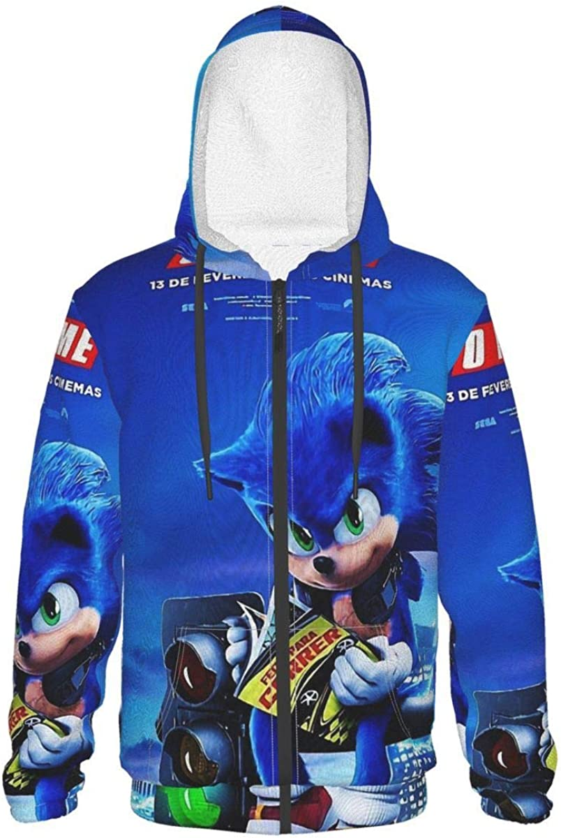 Teen Memphis Mall Sonic-Hedgehog Hoodie Long Sleeve With Anim Max 51% OFF Zip-Up Pullover