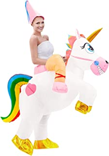 Tacobear Disfraz Inflable De Unicornio Traje De Cosplay Fiesta para Adulto Disfraz Hinchable de Halloween Caballo Hinchable Disfraz Unicornio Hinchable Disfraz con Sombrero