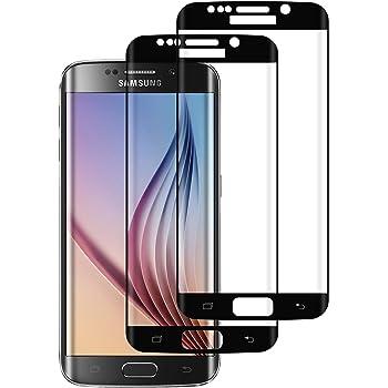 DOSMUNG [2 Pezzi] Vetro Temperato per Samsung Galaxy S6 Edge, Pellicola Protettiva Vetro per Samsung S6 Edge 9H Durezza/3D Curvo Copertura Completa/Ultra HD/Anti-Graffi Galaxy S6 Edge Tempered Film