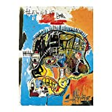 YRZYT Basquiat Obras De Arte Sala De Decoracion Sin Enmarcar Abstracto Graffiti Figura Retrato Impresiones Moderno Pop Pared Arte Famosos Pintura Poster Cuadros Salon Poster Cuadros 40x60cm
