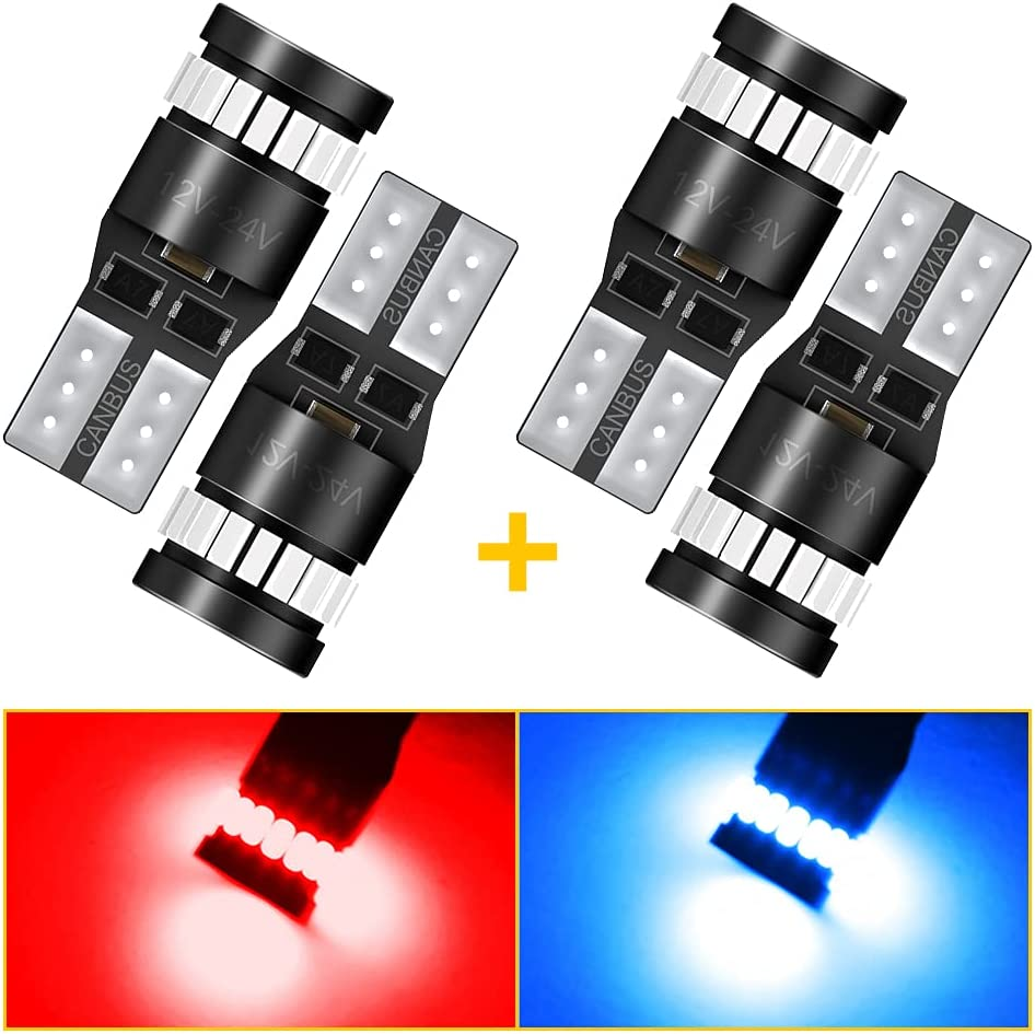 AUXITO 194 168 2825 W5W T10 LED Red Brilliant Wholesale service and Bulbs Ultra in