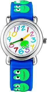 Kid's Watch Vinmori, with 3D Cute Cartoon Pattern Silicone Band Waterproof Quartz Watch Gift for Kids Children Boys Girls