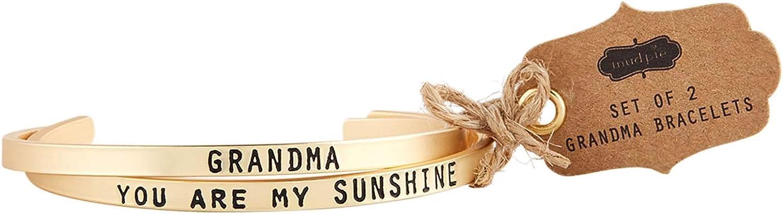 Mud Pie Women's Grandma Bangle Bracelet Set, One Size