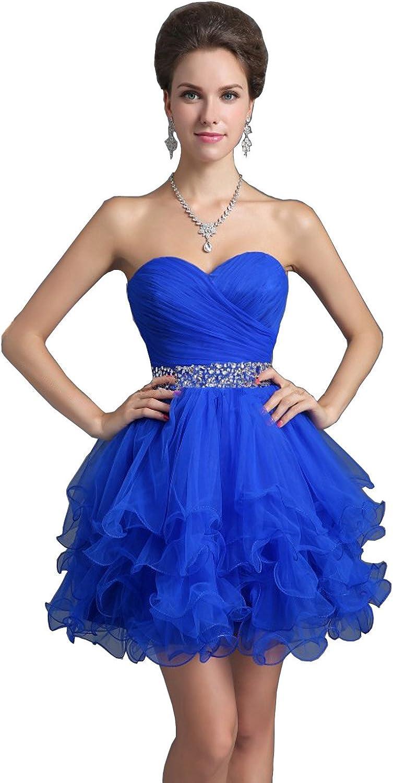 Judy Ellen Sweetheart Ball Gown Short Homecoming Dess Evening Gowns J021LF