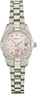 Ladies Watch 2308 with Pink Sunray Dial and Silver Stainless Steel Bracelet Watch