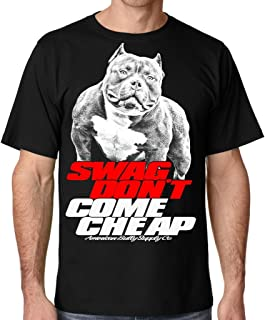 Men's Pit Bull Swag Don't Come tee Shirt