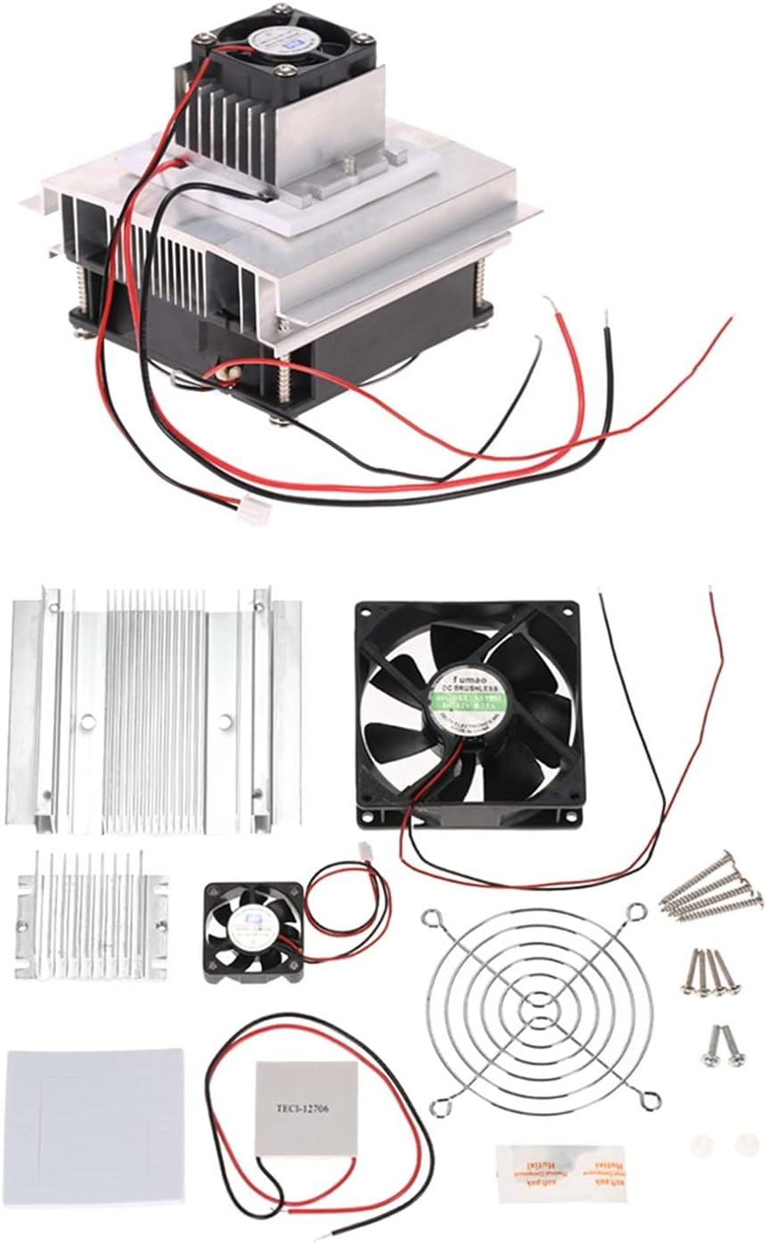 FangFang Kit de refrigeración termoeléctrico Kit de Sistema de refrigeración semiconductora Módulo de conducción Módulo radiador Ventilador de enfriamiento TEC1-12706