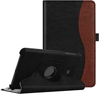 Fintie Case for Samsung Galaxy Tab A 8.0 2018 Model SM-T387 Verizon/Sprint/T-Mobile/AT&T, Premium PU Leather 360 Degree Swivel Stand Cover for Samsung Galaxy Tab A 8.0 4G LTE 2018 Release, Dual Color