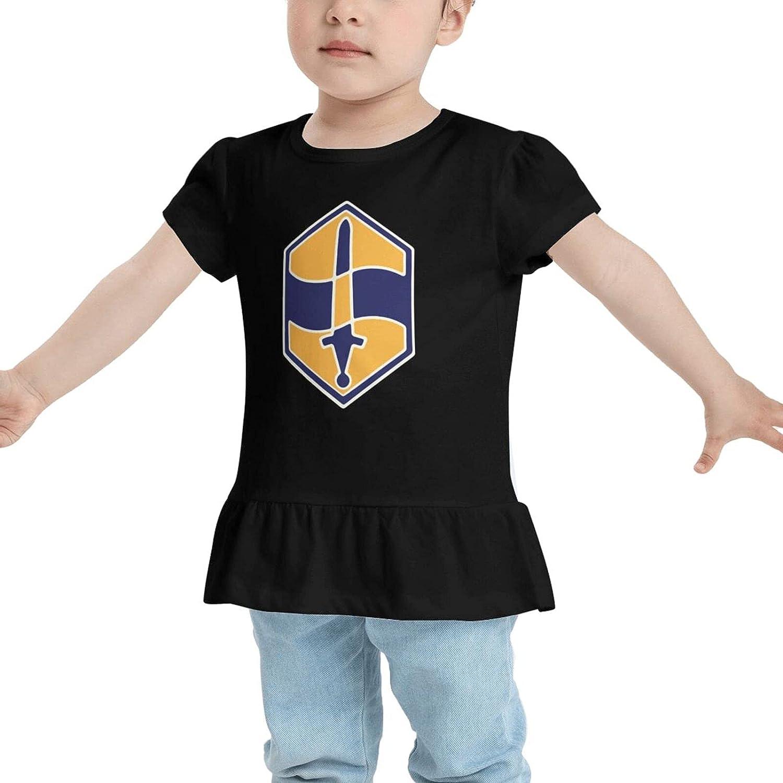460th Chemical Brigade Veteran Baby's Girl's Cotton T-Shirt Top & Tee Dresses