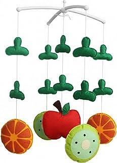 Joli cadeau d'anniversaire, Série Fruit, musicale Lit mobile [pomme et orange]