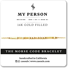MY PERSON Morse Code Bracelet or Necklace in Sterling Silver, 14k Gold Filled, Handmade Jewelry for Best Friend, Girlfriend, Wife, Anniversary, Birthday Gift
